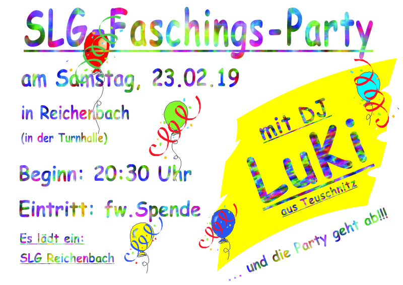 Slg Fasching 2019 Slg Reichenbach